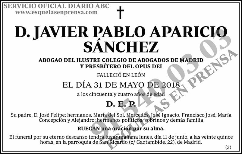 Javier Pablo Aparicio Sánchez